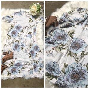 Reborn J Floral print high neck midi dress